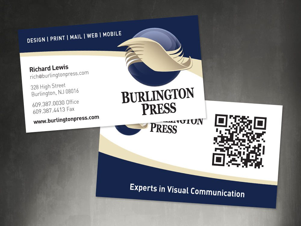 Business cards burlington press reheart Image collections