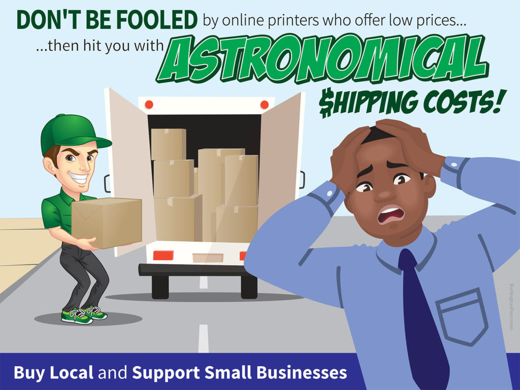 Buy local and save on shipping costs