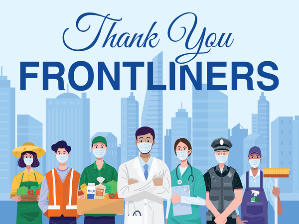 Thank You Frontliners Yard Sign
